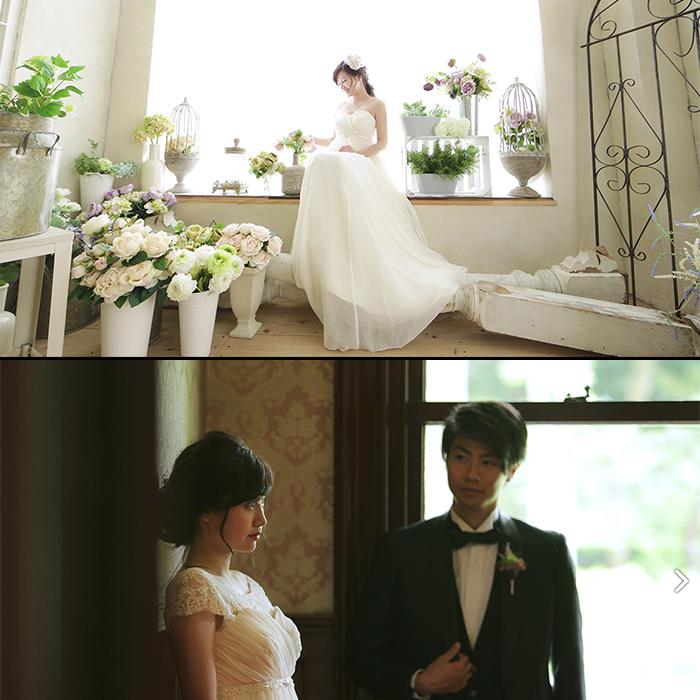 ブライダルPV撮影<br>model / SAYAKA,YUKI<br>work / モデル
