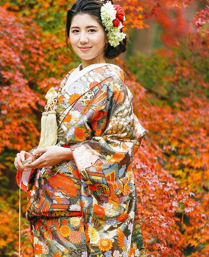 京都和装着物ウェディング 撮影<br>model / RICO<br>work / モデル